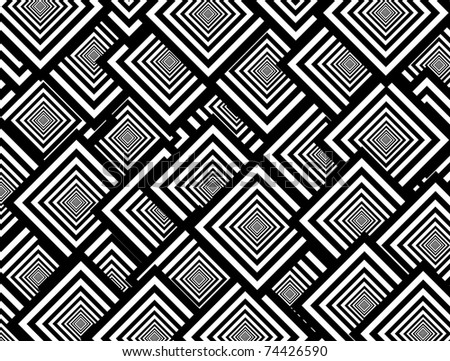 Black and white squares shapes, abstract Background