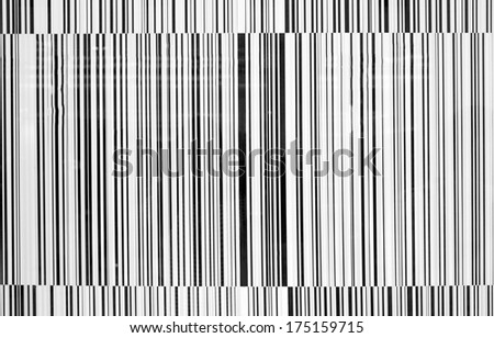 Black and white striped bar-code background - stock photo