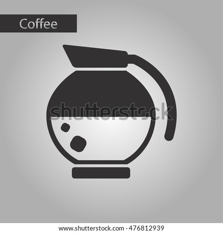 black and white style icon coffee maker