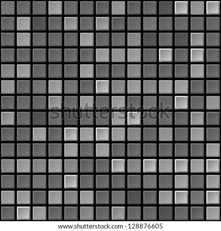 Black and white tile seamless abstract texture