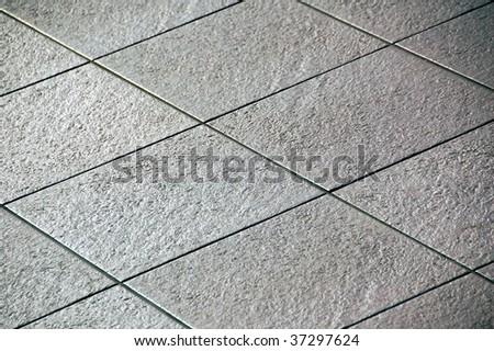Black and white tiles - stock photo