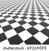 Black and White Tiles - 3d illustration - stock photo