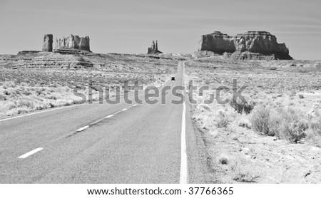 Black and white tone, monument valley, utah - stock photo
