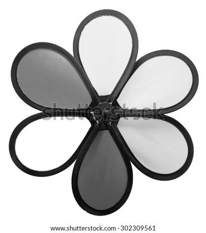 Black and White Toy Turbine
