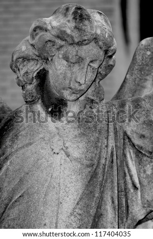 Black and White Victorian Angel - stock photo