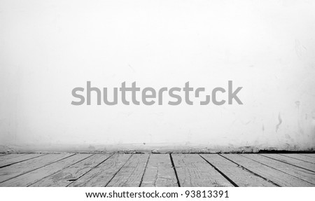 Black and white vintage interior of painted a stone wall - stock photo