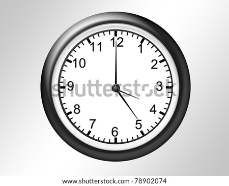 black and white watch over gray and white background