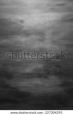 Black And White Water Color Paint Texture. Abstract Grey Painting Background - stock photo