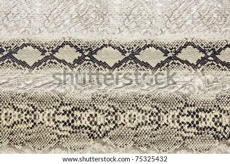 Black and white wild snake skin pattern - stock photo