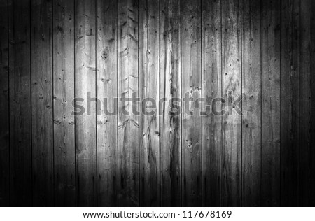 Black and white wood panels used as background - stock photo