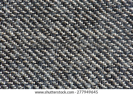 Black and white wool texture - stock photo