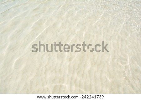 Black and whiter of Water waves for nature backgrounds - stock photo