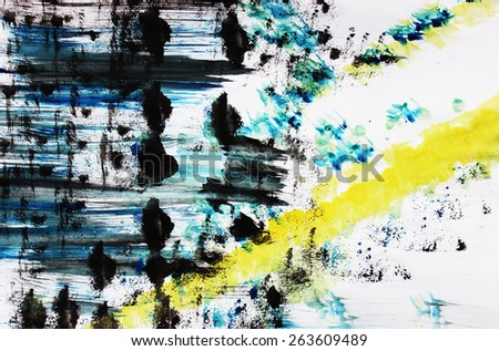 Black and yellow abstract art, Creative background - stock photo