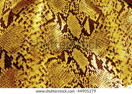 black and yellow background in snake pattern style - stock photo