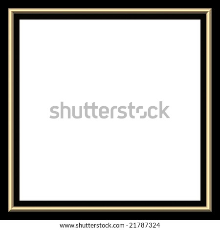 black and yellow frame, isolated on white