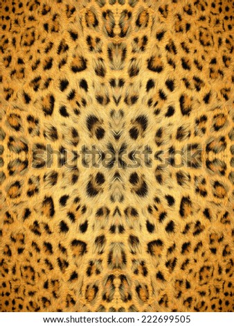 Black and yellow kaleidoscope fur pattern - stock photo