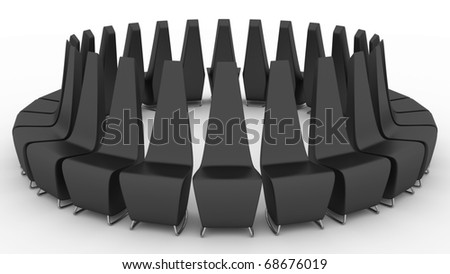 Black arm-chairs for expectation