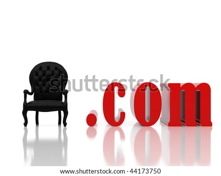 black armchair. - stock photo