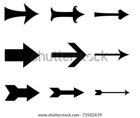 black arrows - stock photo