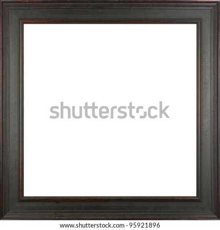 black art picture frame - stock photo