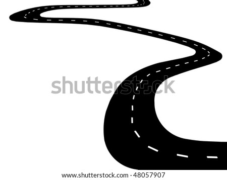 Black asphalt road