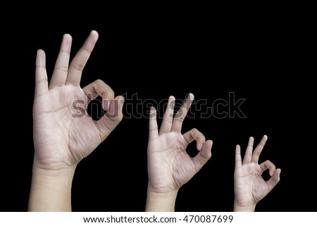 Black background, hand, Hands up, hold, hold onto, right hand, Space between hands