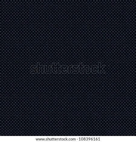 black background, linen texture pattern - stock photo