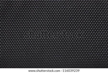 Black background structure of a rough fabric - stock photo