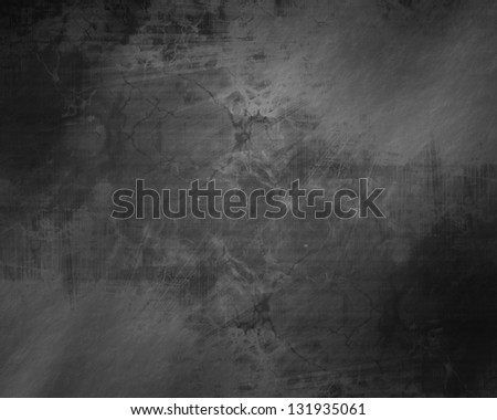 Black background texture with smooth lines and soft highlights - stock photo