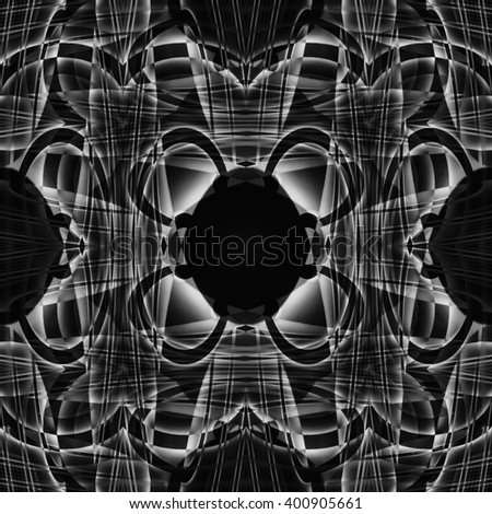 black   background with a geometric pattern in the center