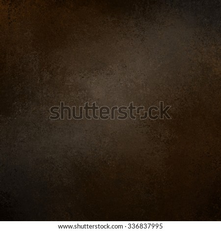 black background with faint center gray brown grunge, chalkboard or blackboard illustration, black and brown painted wall with distressed vintage texture design, elegant black website - stock photo