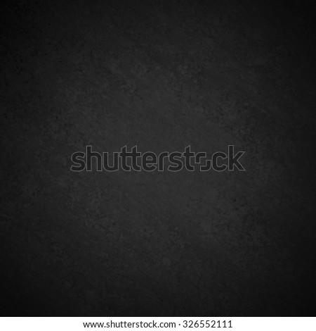 black background with faint center gray grunge, chalkboard or blackboard illustration, black painted wall with distressed vintage texture design, elegant black website - stock photo