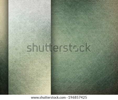 black background with grunge texture and vintage parchment paper illustration on white ribbon with copy space, monochrome background - stock photo