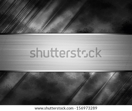 Black background with Iron sribbon. Design template - stock photo