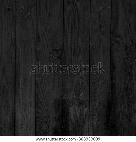 black background wood texture - stock photo