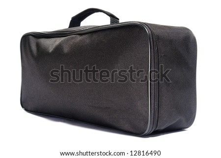 Black bag. Isolated on white.