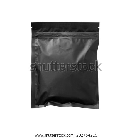 Black bag isolated on white - #1 - stock photo