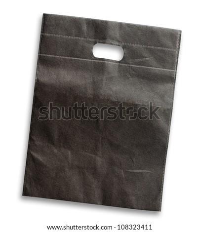 Black bag isolated on white background - stock photo