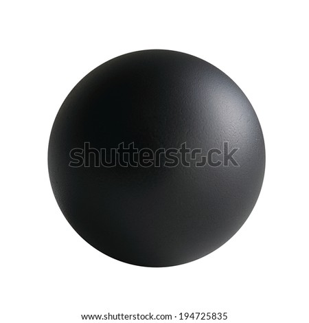 black  ball on white background. Outline paths for easy outlining. Great for templates, icon background, interface buttons.   - stock photo