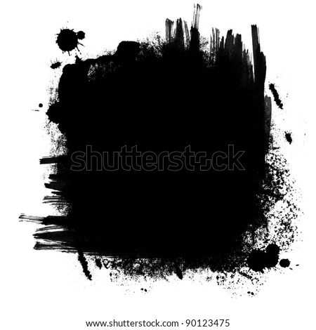 black banner in black and white - stock photo