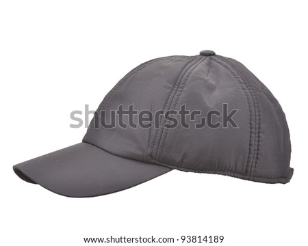 Black Baseball Cap isolated on white