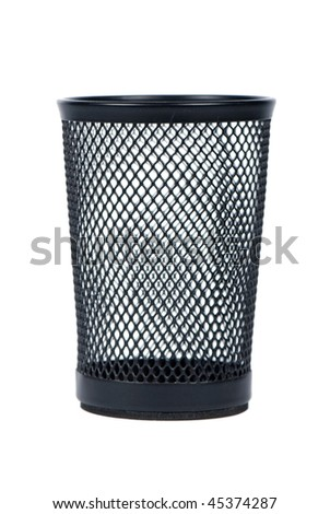 Black basket isolated over white background