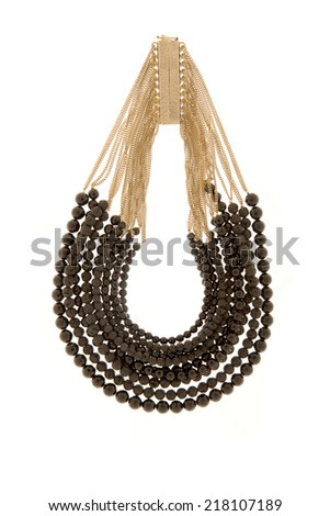 black Beads on a white background - stock photo