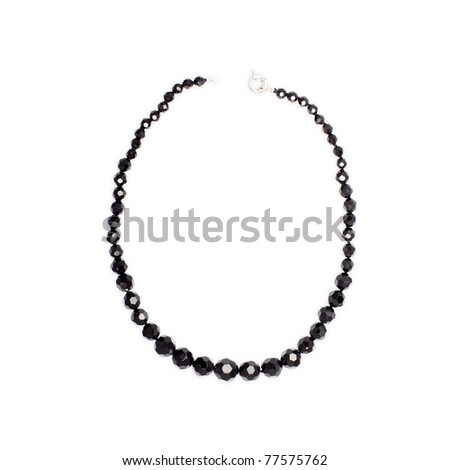 black beads on white