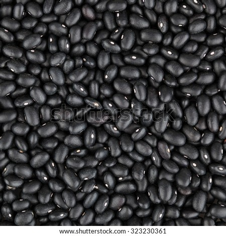Black beans background - stock photo