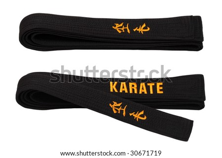 Black belt for employment in carat.