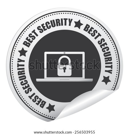 Black Best Security Sticker, Icon or Label Isolated on White Background  - stock photo