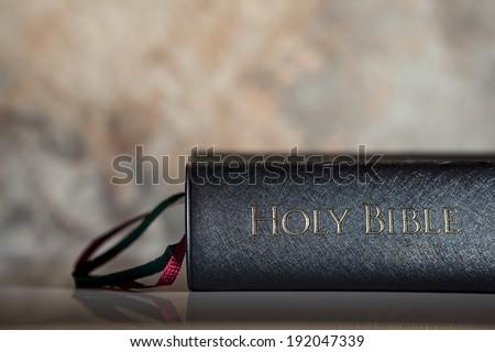 BLACK BIBLE - Horizontal - stock photo