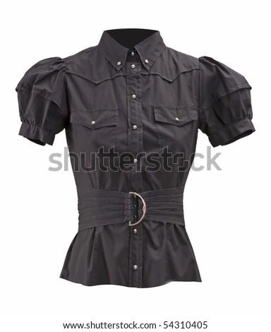 black blouse - stock photo