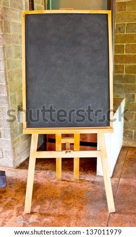 Black board in  the restaurant - stock photo